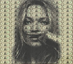 Life Is A Joke (Kate Moss) by Diederik Van Apple - Mixed Media on Aluminium sized 43x39 inches. Available from Whitewall Galleries