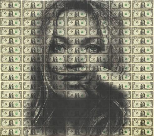 Life Is A Joke (Kate Moss) by Diederik Van Apple - Mixed Media on Aluminium